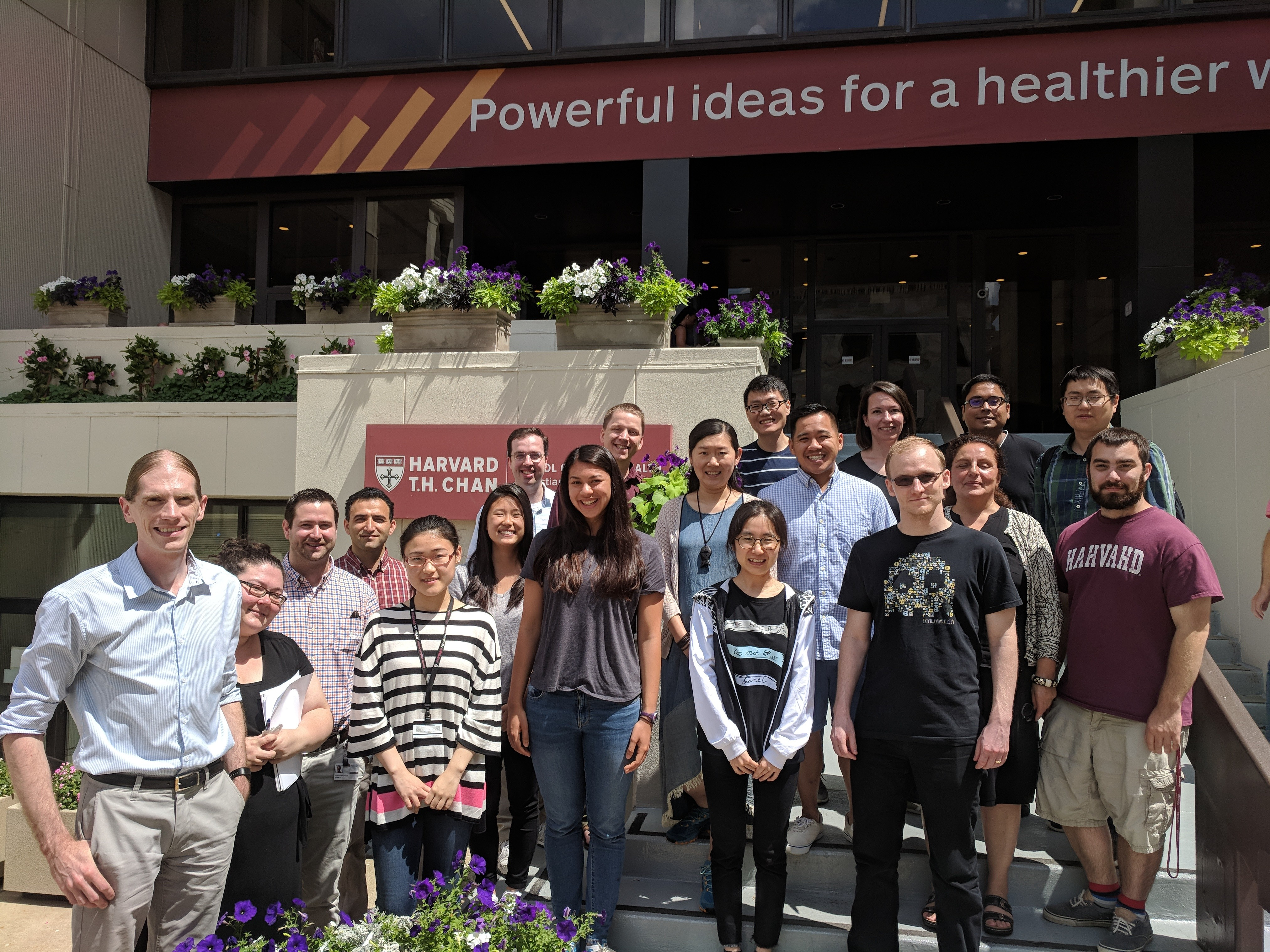 The Huttenhower lab at the Harvard T. H. Chan School of Public Health, Summer 2018